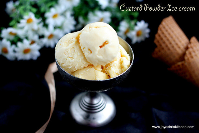 Eggless Custard Powder Ice cream