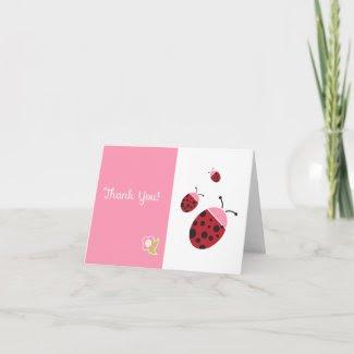 Ladybug Thank You Card zazzle_card