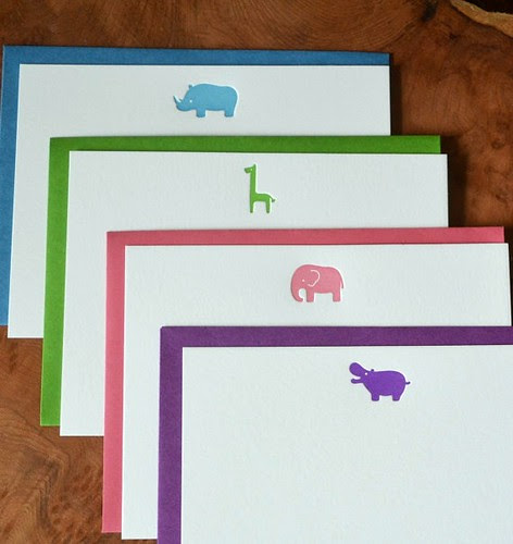 Letterpress Animal Note Cards