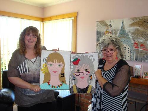 Mom, Gail (#28) with daughter, Sarah (#29)