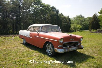1955 Chevy Bel Air Two Door Hard Top, Alamance County, North Carolina