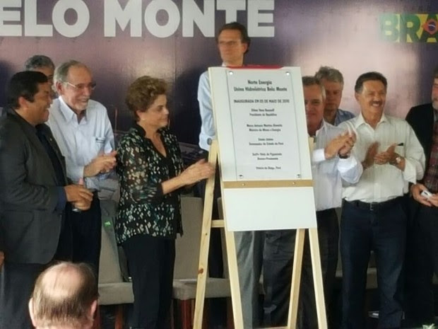 Dilma Rousseff em Belo Monte (Foto: Fabiano Villela/ TV Liberal)
