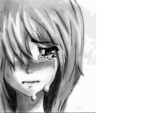 sad anime girl crying pictures depressed anime girl