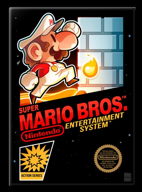 Super Mario Bros. (1985) Nintendo Entertainment System Box Art Tribute