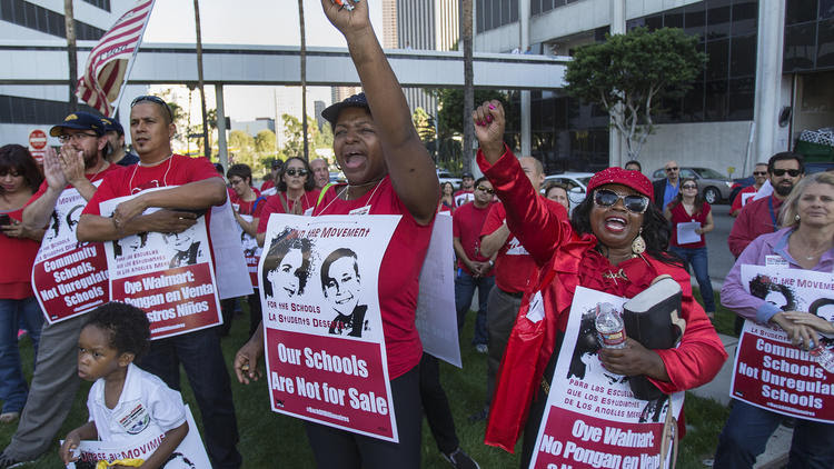Protest against charter school expansion