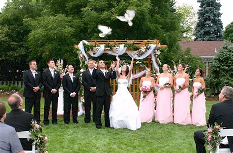 Dove Release in a Wedding Ceremony