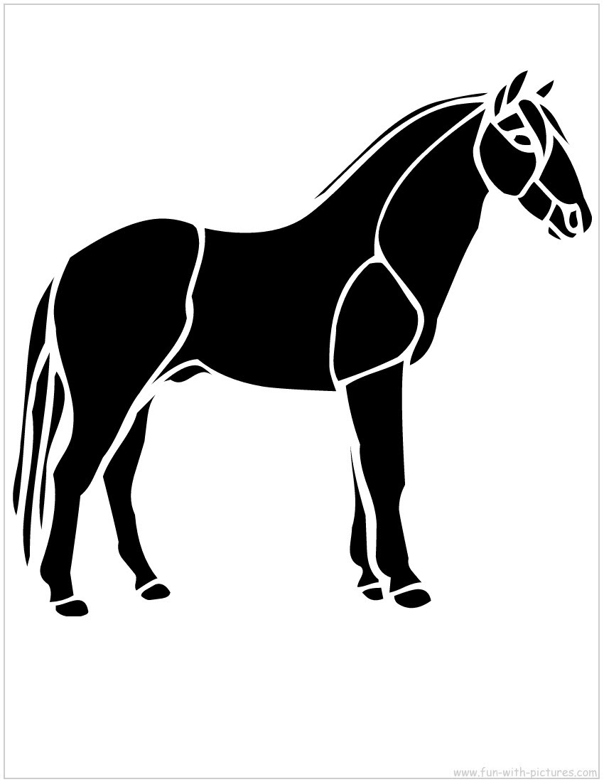 Horse Stencil - Free Printables