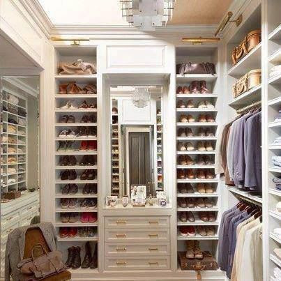 So pretty. | master bedroom closet & organization ideas
