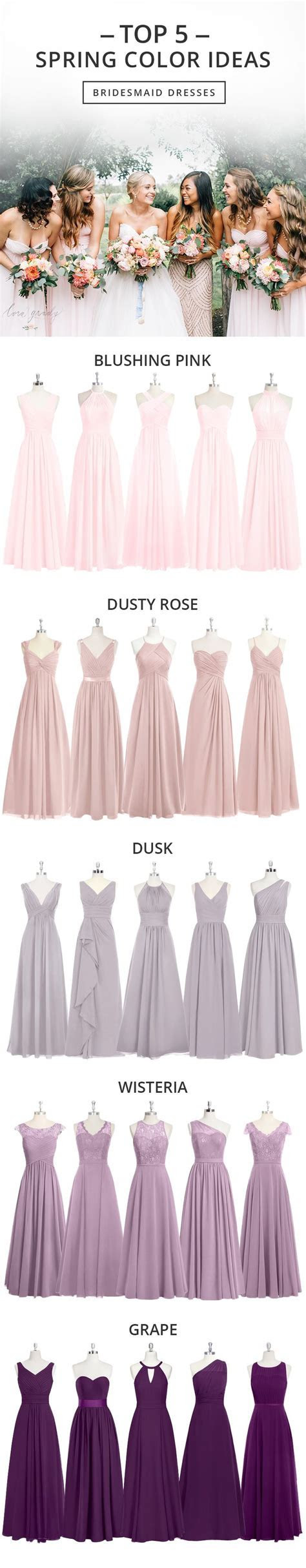 25  best ideas about Dusty pink bridesmaid dresses on