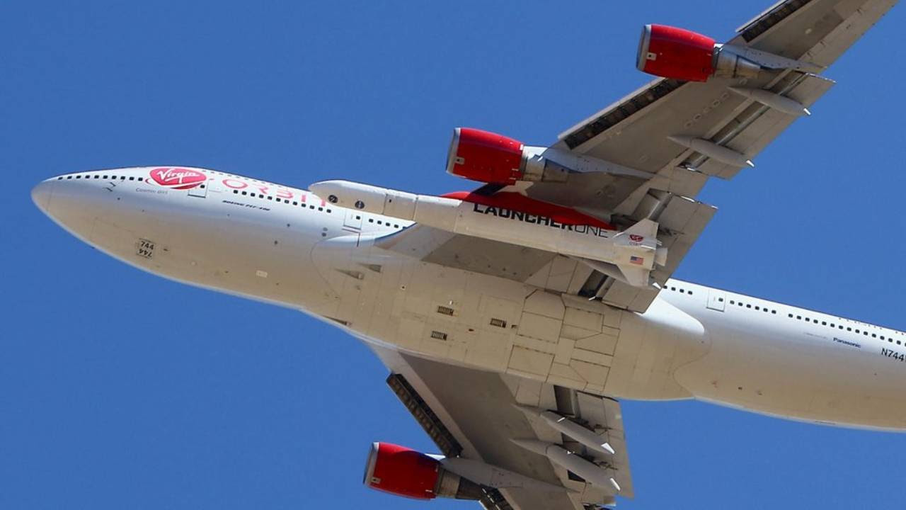 The Virgin Orbit Boeing 747-400 rocket launch platform was used in the rocket's first success and second attempt to reach space. AP