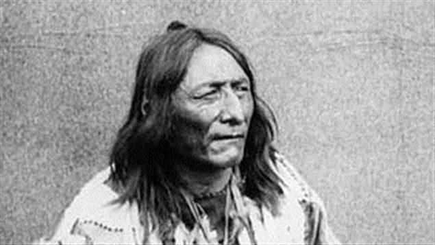 Crowfoot, chef de la Nation des Pieds-Noirs à la fin du XIXe siècle
