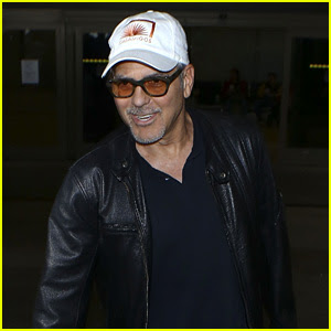 George Clooney Wraps Up Italy Trip in Leather Jacket & Casamigos Hat