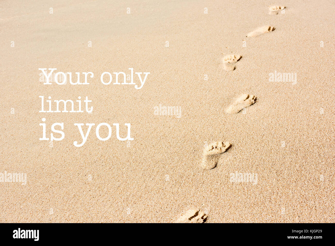 Inspirational Motivation Quote With Phrase Your Only Limit Is You