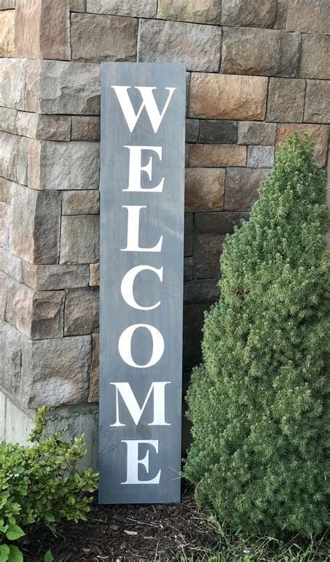 Welcome wood sign   6' tall, 5'tall or 4' tall ? Knot and