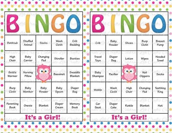 30 Baby Shower Bingo Cards Printable Baby by CelebrateLifeCrafts