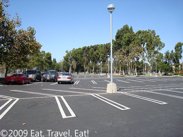 Empty Parking Lot at South Coast Plaza