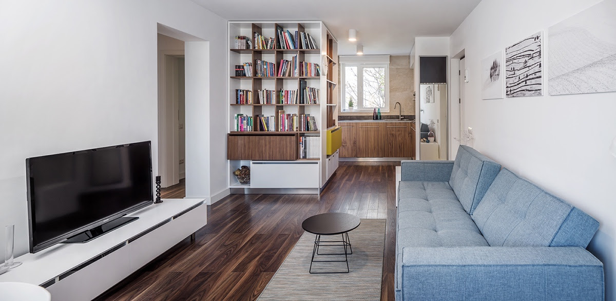 Desig House Light And Charming Decor In A Compact 1 Bedroom Apartment