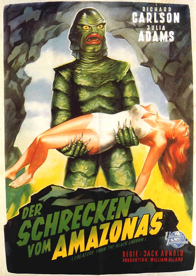 Creature From The Black Lagoon 3 Monster B Movie Posters