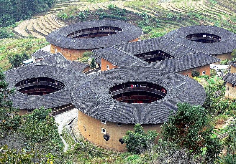 صورة لعدد من مباني فوجين تولو