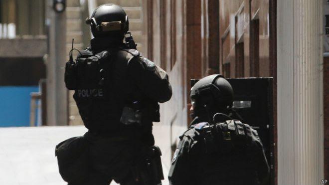 Policía en Sidney, Australia