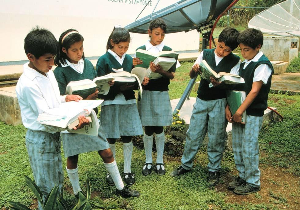 Niños en una escuela de México.