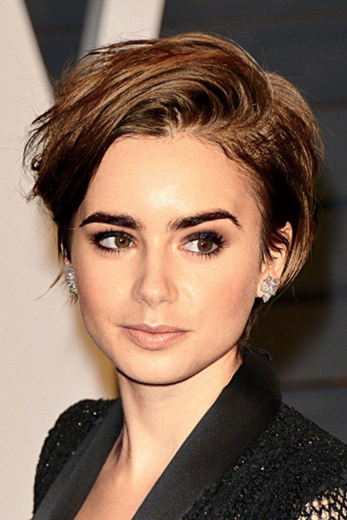 Best Hairstyles For 2017 2018 Lily Collins The Perfect Pixie
