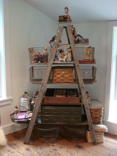 DIY ladder shelves by mayalu