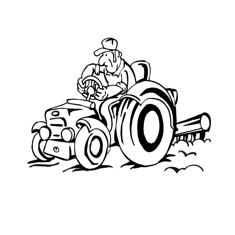 Coloriages à Imprimer Tracteur Page 1