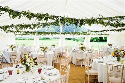 Wedding Marquee with Leafy Ceiling Decoration   Marquee