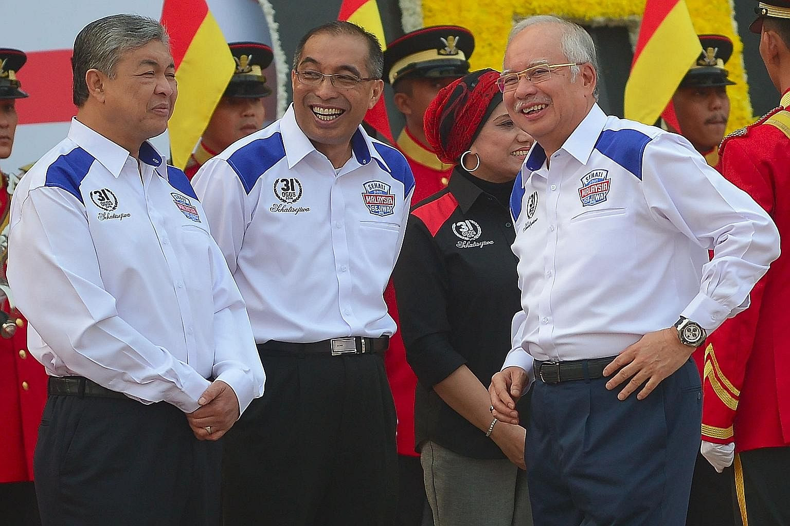 Image result for images of najib with salleh