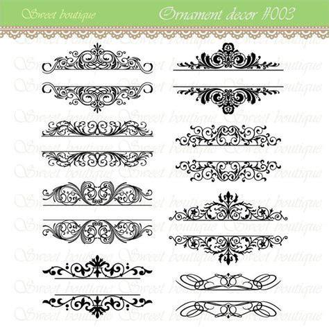 Vintage Calligraphy Clip Art Clipart DIY Wedding