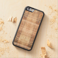 Vintage Aztec Tribal Wood Carved Maple iPhone 6 Bumper