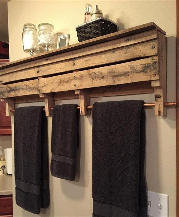 DIY Pallet Bathroom Shelf and Storage Ideas - Ideas with ...