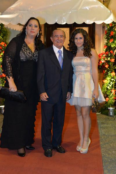 Lilian, Renato e Livian Aragão