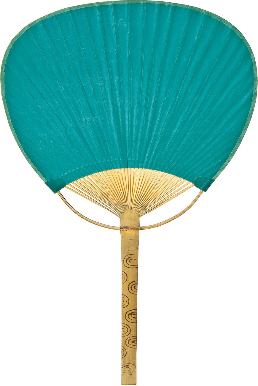 Teal Paper Paddle Fan