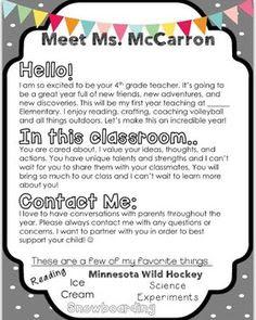 EDITABLE Teacher Introduction Letter | Teaching, Teacher ...