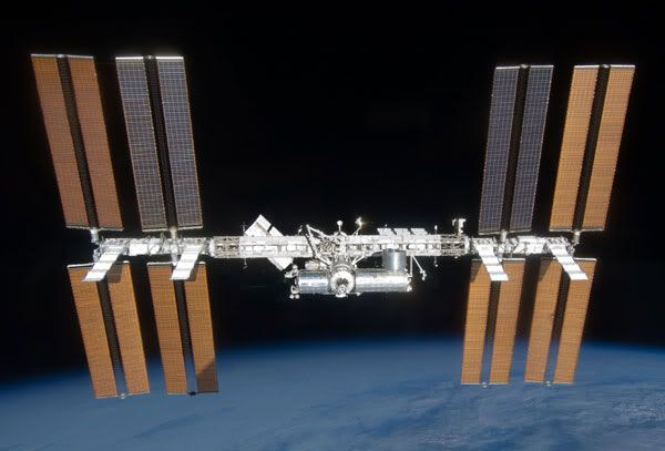 The International Space Station, as of March 28, 2009.