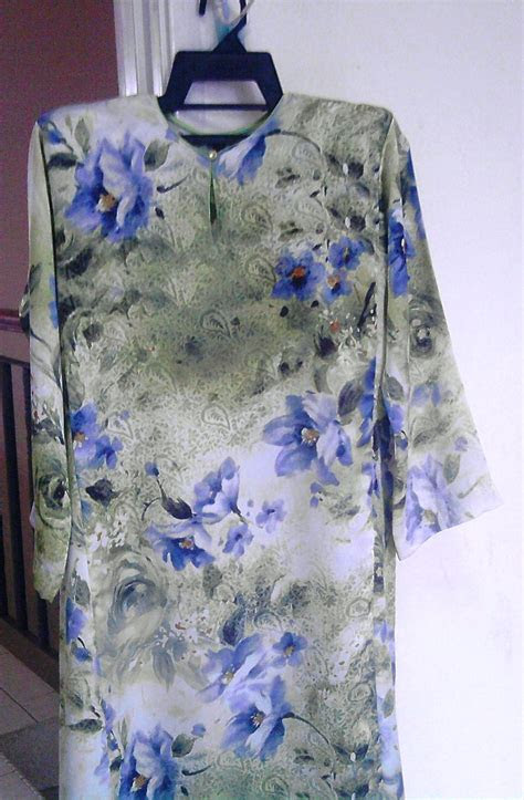 flora fancy fabric baju kurungkanak kanakipoh