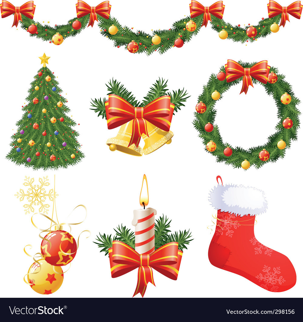 Christmas decorations vector by BlackBastet  Image 298156