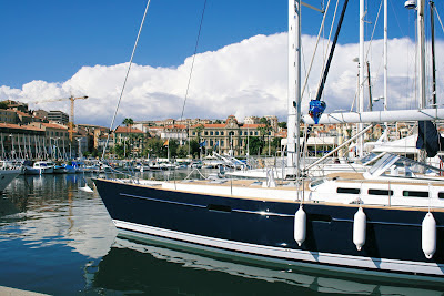 Luxury boats in Cannes Old Port