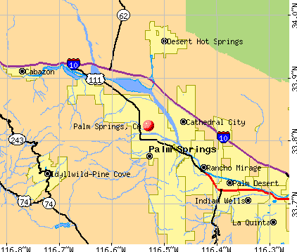 Campus Map: Palm Spring California Map