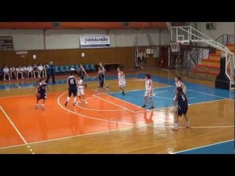 Στιγμιότυπα από τον αγώνα των μικτών κορασίδων ΕΚΑΣΘ και ΕΣΚΑ σε συνεργασία με το www.grbasket.gr