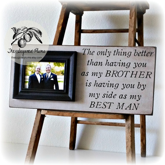 Best Man Gift Groomsman Groomsmen Brother Wedding Gift Personalized