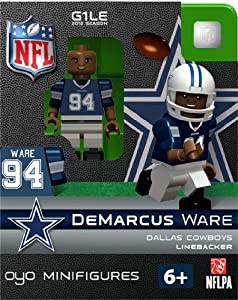 Amazon.com : DeMarcus Ware NFL Oyo Mini Figure Lego Compatible Dallas Cowboys : Sports Fan Toy