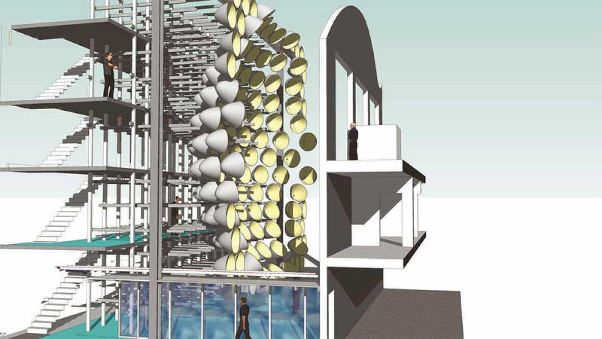 La réplica solar, que ha recibido el nombre de 'Synlight', está construida en el interior de un edificio de cuatro plantas de altura.
