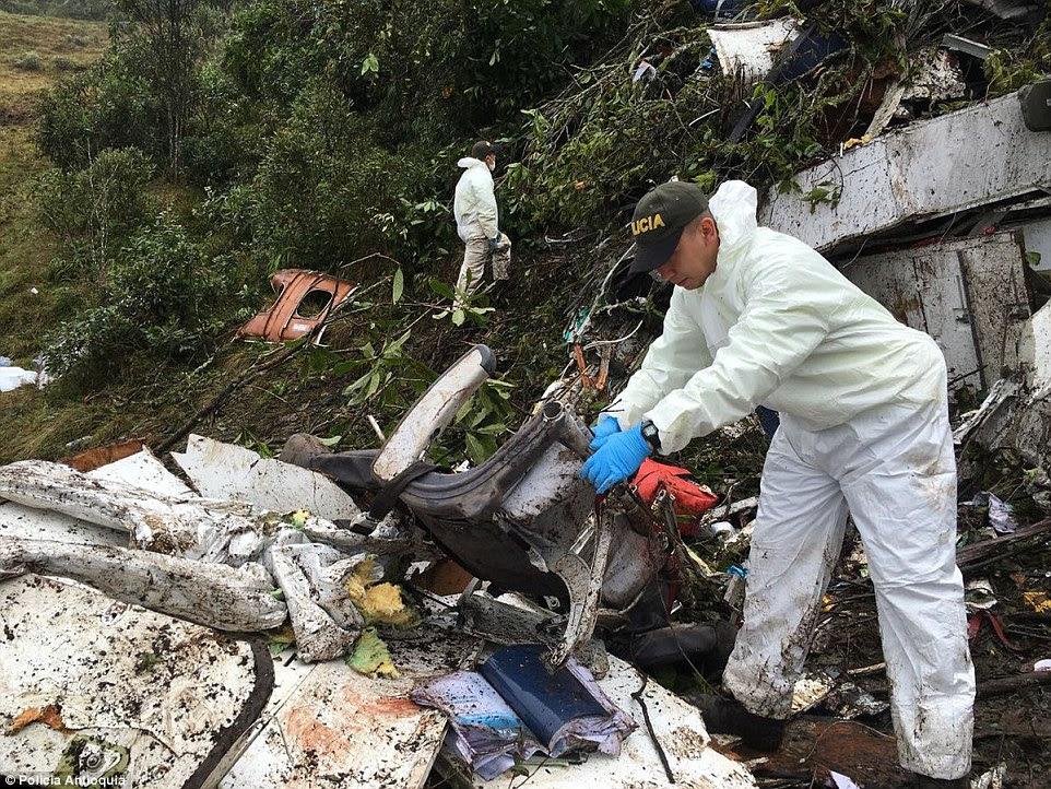especialistas em resgate começaram a remover partes do avião esta manhã como eles trabalharam para limpar a cena do desastre