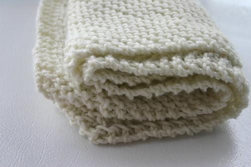Finished Idiots Dishcloth Baby Blanket