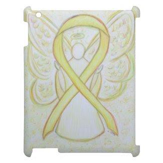 Yellow Awareness Ribbon Angel Custom iPad Case