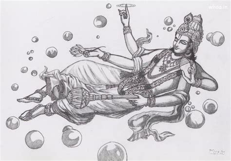 lord vishnu sleeping art hd wallpaper