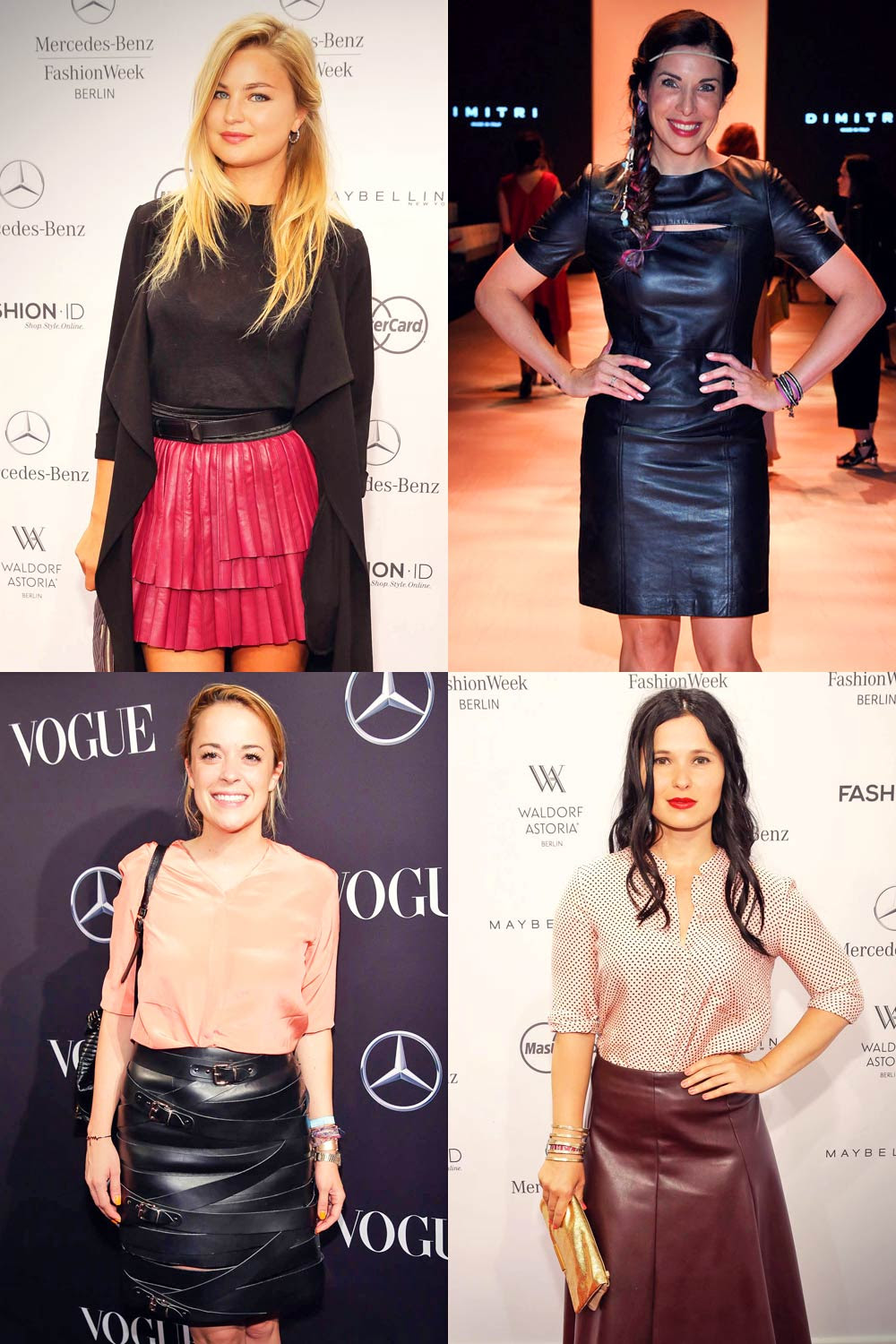 German Celebs Attend Mercedes Benz Fashion Week Berlin Leather